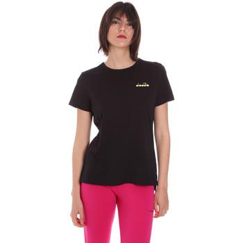 textil Dame T-shirts m. korte ærmer Diadora 102175882 Sort
