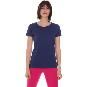 textil Dame T-shirts m. korte ærmer Diadora 102175886 Blå