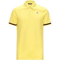 textil Herre Polo-t-shirts m. korte ærmer K-Way K008J50 Gul