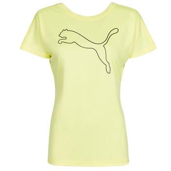 textil Dame T-shirts m. korte ærmer Puma RECYCL JERSY CAT TEE Gul
