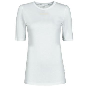 textil Dame T-shirts m. korte ærmer Puma MBASIC TEE Hvid