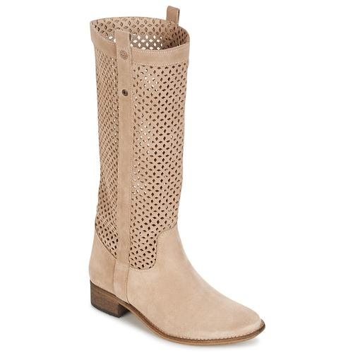 Sko Dame Chikke støvler Betty London DIVOUI Beige