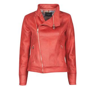 textil Dame Jakker i læder / imiteret læder Desigual MARBLE Rød