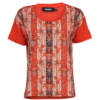 textil Dame T-shirts m. korte ærmer Desigual LOMBOK Flerfarvet