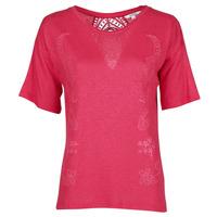 textil Dame T-shirts m. korte ærmer Desigual CLEMENTINE Rød