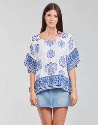 textil Dame Toppe / Bluser Desigual ANDES Hvid / Blå