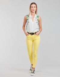 textil Dame Lærredsbukser Desigual ALBA Gul