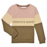 textil Pige Sweatshirts Name it NKFLIBEL LS SWEAT Beige / Pink / Kaki