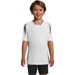 textil Børn T-shirts m. korte ærmer Sols Maracana - CAMISETA NIÑO MANGA CORTA Blanco