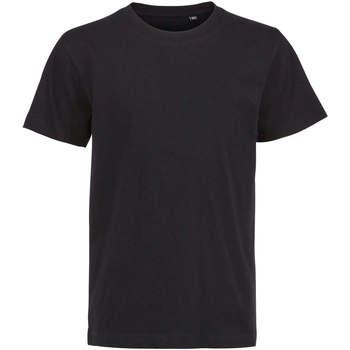 textil Børn T-shirts m. korte ærmer Sols Camiseta de niño con cuello redondo Negro