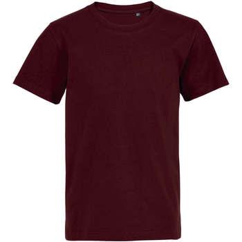 textil Børn T-shirts m. korte ærmer Sols Camiseta de niño con cuello redondo Burdeo