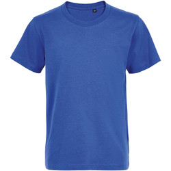 textil Børn T-shirts m. korte ærmer Sols Camiseta de niño con cuello redondo Azul