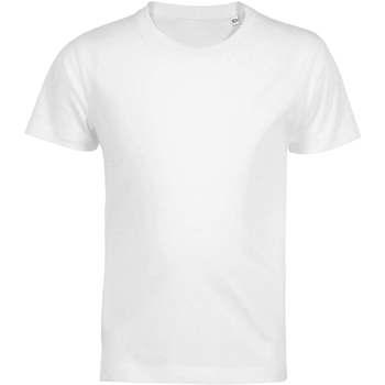 textil Børn T-shirts m. korte ærmer Sols Camiseta de niño con cuello redondo Blanco