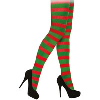 Undertøj Dame Tights / Pantyhose and Stockings Christmas Shop CS067 Red/Green