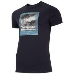 textil Herre T-shirts m. korte ærmer 4F TSM028 Sort