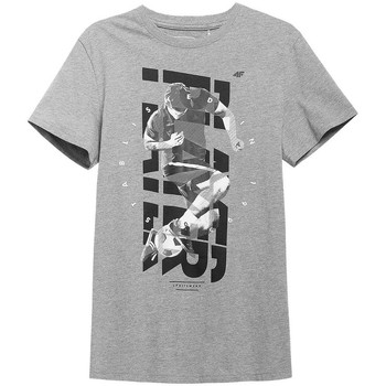 textil Herre T-shirts m. korte ærmer 4F TSM011 Grå