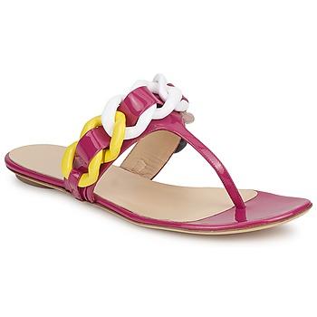 Sko Dame Klipklapper  Versus by Versace FSD364C Pink / Hvid / Gul