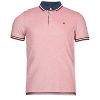 textil Herre Polo-t-shirts m. korte ærmer Jack & Jones JJEPAULOS Rød
