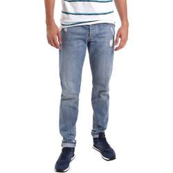 textil Herre Smalle jeans Sseinse PJE625SS Blå