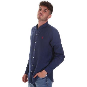 textil Herre Skjorter m. lange ærmer U.S Polo Assn. 58667 50816 Blå