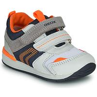 Sko Dreng Lave sneakers Geox B RISHON Hvid