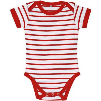 textil Børn Sæt Sols Body bebé a rayas Rojo