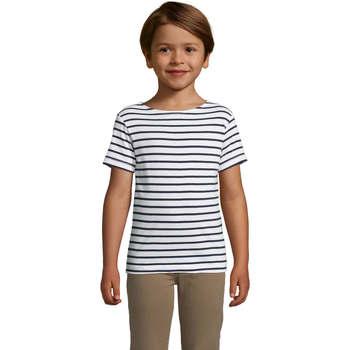 textil Børn T-shirts m. korte ærmer Sols Camiseta niño cuello redondo Azul