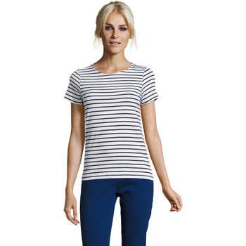 textil Dame T-shirts m. korte ærmer Sols Camiseta de mujer a rayas Azul