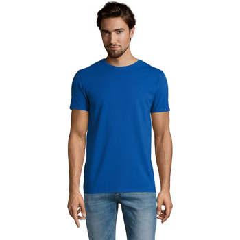 textil Herre T-shirts m. korte ærmer Sols Camiserta de hombre de cuello redondo Azul