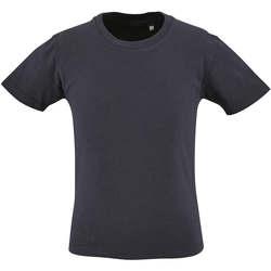 textil Børn T-shirts m. korte ærmer Sols CAMISETA DE MANGA CORTA Azul