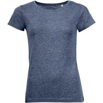 textil Dame T-shirts m. korte ærmer Sols Mixed Women camiseta mujer Azul