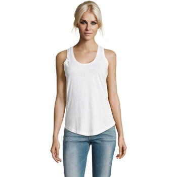 textil Dame Toppe / T-shirts uden ærmer Sols Moka camiseta mujer sin mangas Blanco
