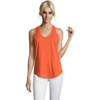 textil Dame Toppe / T-shirts uden ærmer Sols Moka camiseta mujer sin mangas Naranja