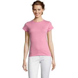 textil Dame T-shirts m. korte ærmer Sols Miss camiseta manga corta mujer Rosa