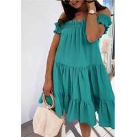 textil Dame Korte kjoler Fashion brands R5119-VERT-D-EAU Grøn / Vand