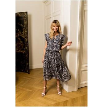textil Dame Toppe / Bluser Fashion brands CK08138-MARINE Marineblå