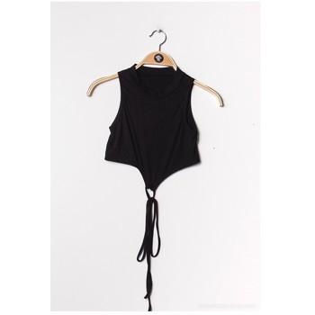 textil Dame Toppe / Bluser Fashion brands FR070-BLACK Sort