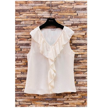 textil Dame Toppe / Bluser Fashion brands ERMD-13797-CP-BLANC Hvid