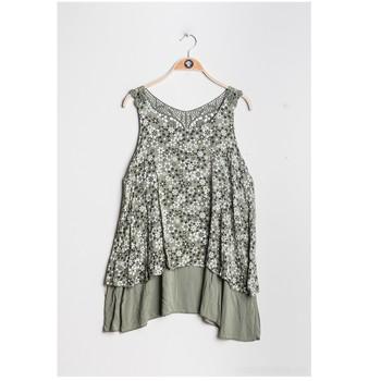 textil Dame Toppe / Bluser Fashion brands 9673-KAKI Kaki
