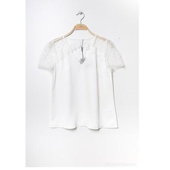 textil Dame Toppe / Bluser Fashion brands K5518-WHITE Hvid