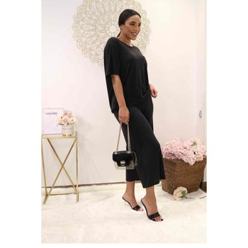 textil Dame Toppe / Bluser Fashion brands 9159-BLACK Sort