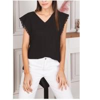 textil Dame Toppe / Bluser Fashion brands F2106-BLACK Sort