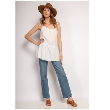 textil Dame Toppe / Bluser Fashion brands 490-WHITE Hvid