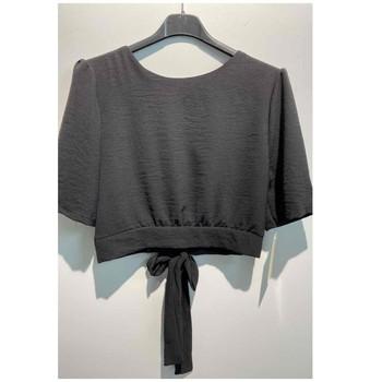 textil Dame Toppe / Bluser Fashion brands 5172-BLACK Sort