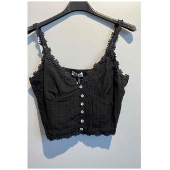 textil Dame Toppe / Bluser Fashion brands 6133-BLACK Sort