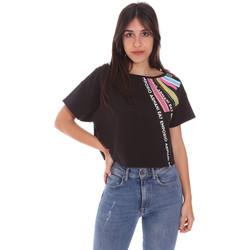 textil Dame T-shirts m. korte ærmer Ea7 Emporio Armani 3KTT40 TJ39Z Sort