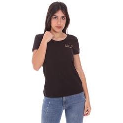 textil Dame T-shirts m. korte ærmer Ea7 Emporio Armani 8NTT65 TJ28Z Sort