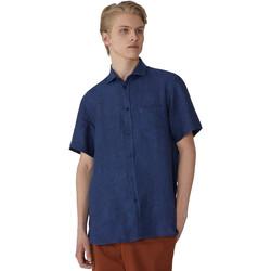 textil Herre Skjorter m. korte ærmer Trussardi 52C00213-1T002248 Blå