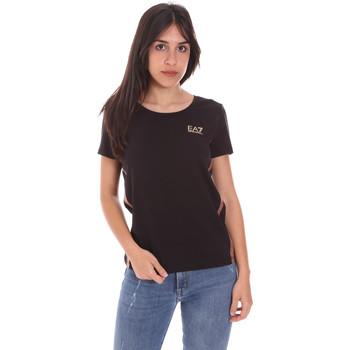 textil Dame T-shirts m. korte ærmer Ea7 Emporio Armani 3KTT51 TJ9VZ Sort