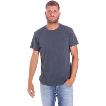 textil Herre T-shirts m. korte ærmer Lumberjack CM60343 021EU Blå
